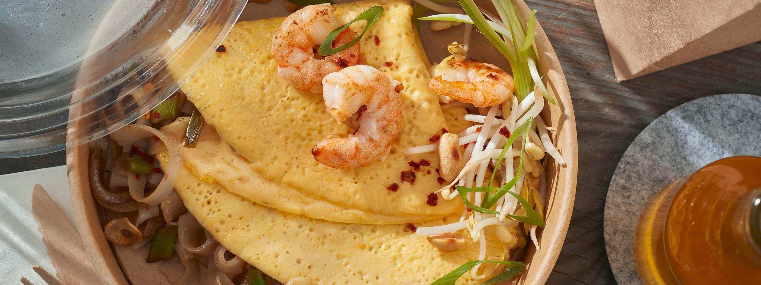 Rührei-Tasche Pad Thai